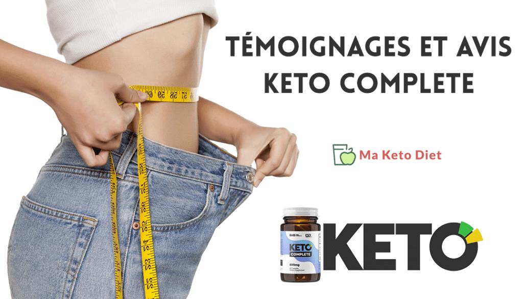 Témoignages et avis sur Keto Complete