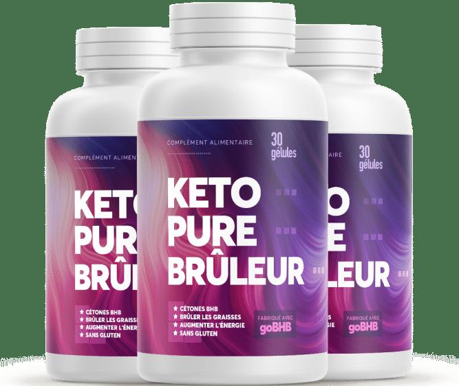 Flacons de la formule Keto Pure Brûleur