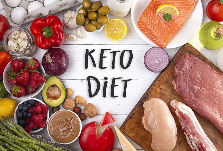 Fruits, légumes, viandes et protéines pour la keto diet